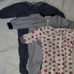 Little boy footie pajama bundle 0-3 months